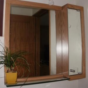 Gabinete con espejos